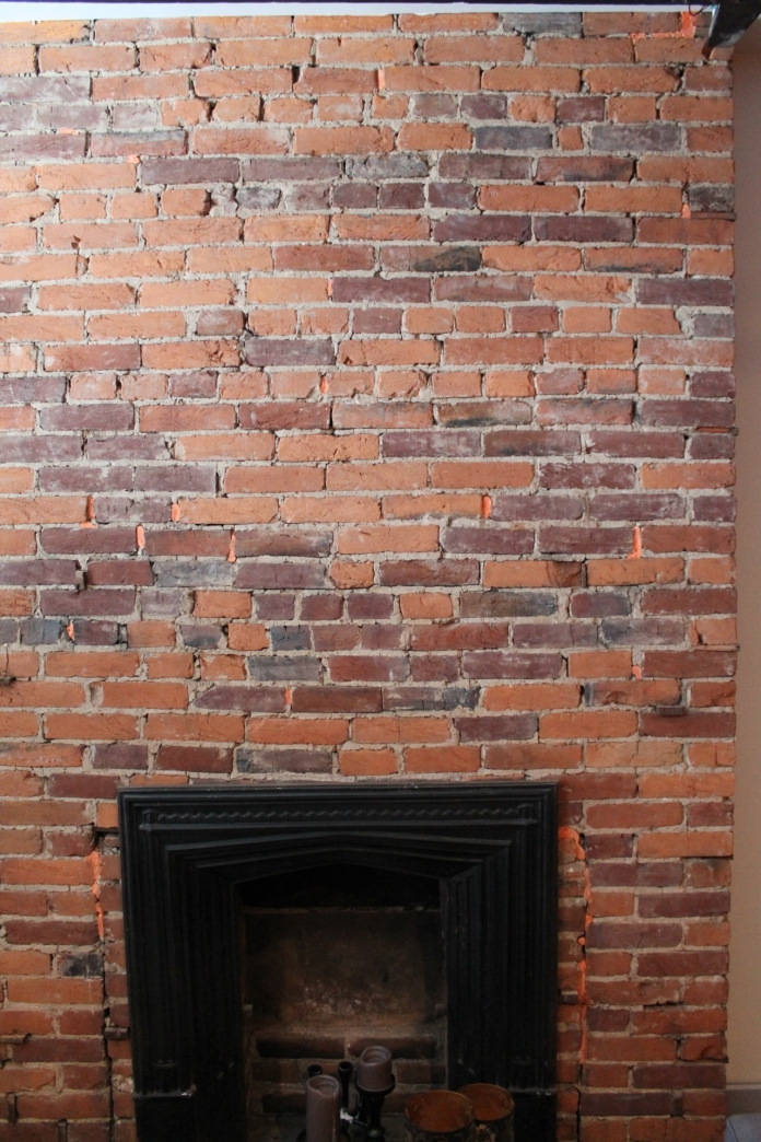 what to do with a brick fireplace